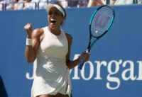 Back in the quarter-finals for Madison Keys