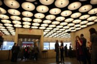 Visitors on the opening day of The Met Breuer, an expansion of the Metropolitan Museum of Art, in 2016
