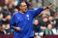 Chelsea coach Maurizio Sarri marshalls his men in the goalless draw at West Ham