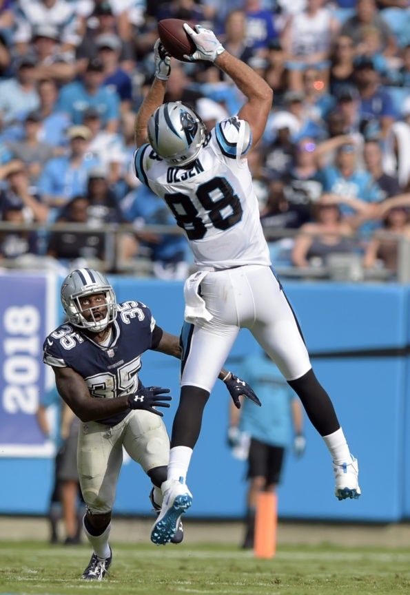 The Latest Panthers Greg Olsen out early with foot