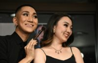 Nishimura is primarily a make-up artist, beautifying clients ranging from popstars to pageant contestants