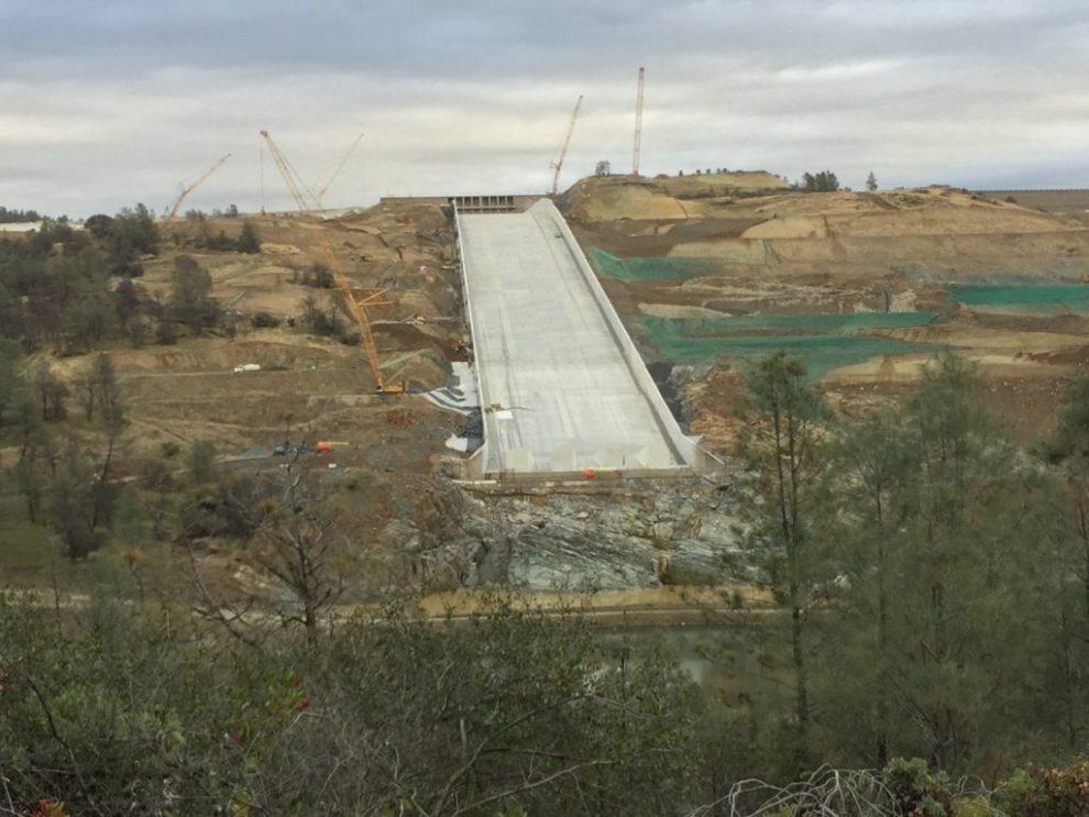 Oroville Dam Spillway Reconstruction (Joel Pollak / Breitbart News)