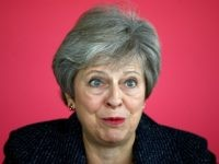 LONDON, ENGLAND - OCTOBER 11: British Prime Minister Theresa May attends a roundtable meeting with business leaders, whose companies are inaugural signatories of the Race at Work Charter at Southbank Centre on October 11, 2018 in London, England. The PM reportedly later today will have a special meeting of cabinet …
