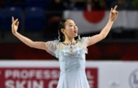 Gold medal winner Rika Kihira of Japan performs at the ISU Grand Prix Figure Skating Finals at the UBC Thunderbird Sports Centre