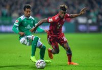 Kingsley Coman (R) on his return to action for Bayern Munich on December 1 following the Frenchman's latest injury setback.