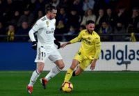 Gareth Bale (left) injured his calf against Villarreal on Wednesday.