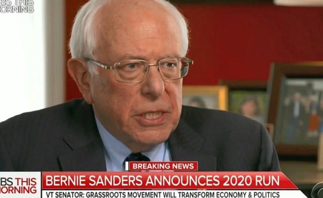 Bernie Sanders Announces 2020 Bid Says It Is Absolutely