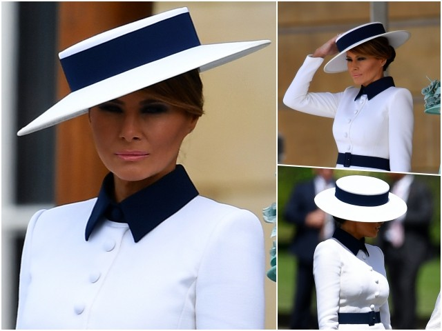 Fashion Notes: Melania Trump Meets the Queen In Iconic Hervé