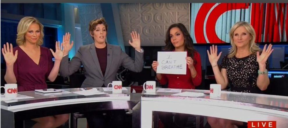 CNN Hands Up Don't Shoot (CNN / Screenshot)
