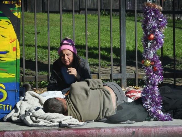 Homeless L.A. Christmas (Mark Ralston / AFP / Getty)