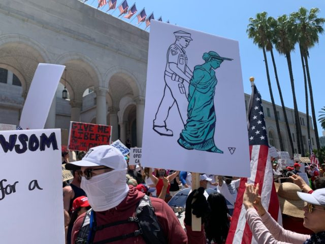 Los Angeles Protest to Reopen California