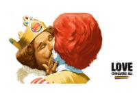 Burger King Depicts Mascot in Gay Kiss with Ronald McDonald