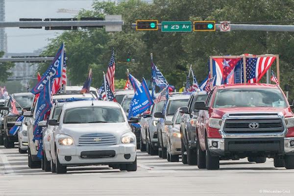 Caravan against socialism and communism in Miami, Florida, October 10, 2020.