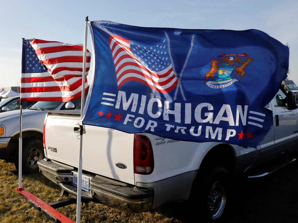Michigan for Trump (Jeff Kowalsky / AFP / Getty)