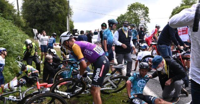 , Authorities Arrest Fan Involved in Tour de France Crash, Nzuchi Times Breitbart