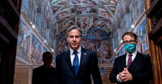 , Pope Francis Meets U.S. Secretary of State Antony Blinken in Vatican, Nzuchi Times Breitbart