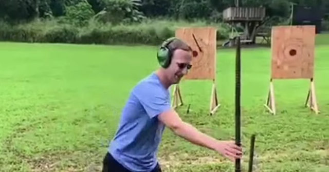 , Cringe: Mark Zuckerberg Posts Video of Himself Throwing Spear with Ear Protectors On, Nzuchi Times Breitbart