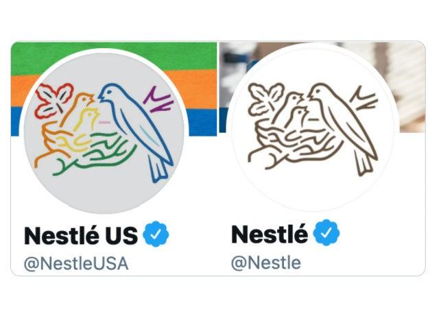 Nestle Logos for Pride