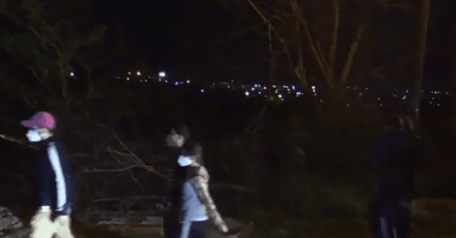 , EXCLUSIVE VIDEO: Migrants March Through South Texas Neighborhood at Night, Nzuchi Times Breitbart