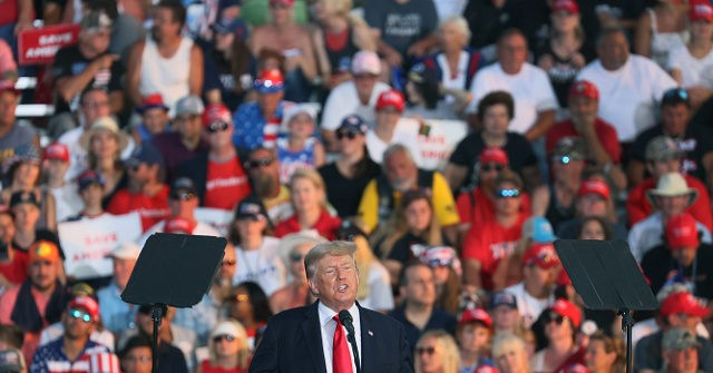 , Former President Trump Addresses Large Enthusiastic Rally in Ohio, Nzuchi Times Breitbart