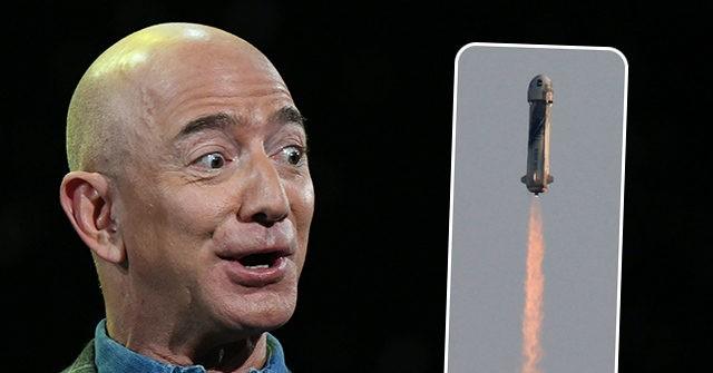 , Jeff Bezos Phallic Rocket Ride Lasts Mere Minutes in Space, Nzuchi Times Breitbart