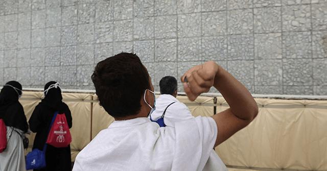 , Islamic Pilgrims 'Stone Satan' with Sanitized Pebbles at Coronavirus-Safe Hajj, Nzuchi Times Breitbart