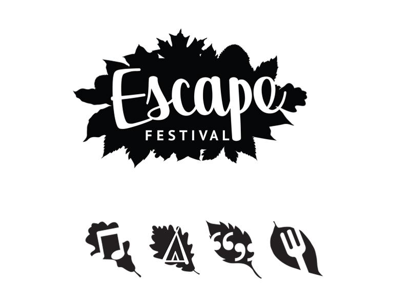 Briefbox — Escape Festival logo and icons by Rachel Fiddy