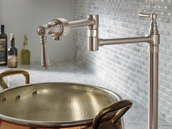 kitchen pot filler viva towel deck mount faucet : 62710lf-ss traditional ...
