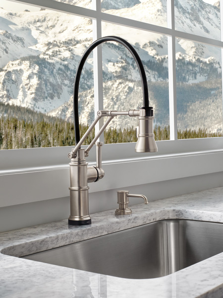artesso single handle articulating kitchen faucet with smarttouch technology