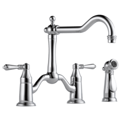 Two Handle Kitchen Faucet Pub Sets Product Bridge With Spray