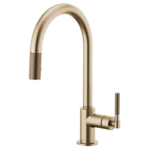 pull down faucet with arc spout and