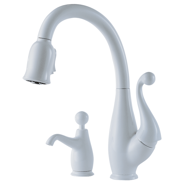 2 handle kitchen faucet bay window curtains single pull down : 63500-whsd ...
