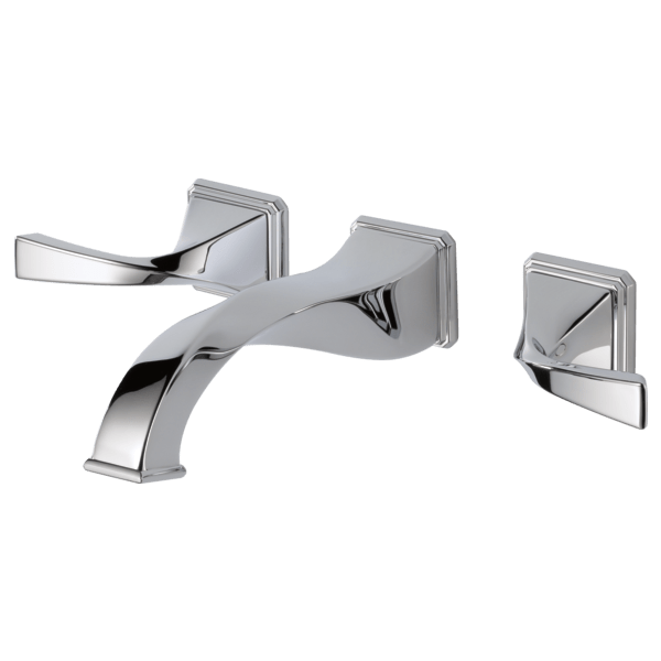 two handle wall mount lavatory faucet