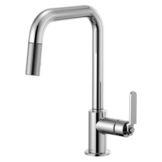 brizo kitchen faucet where can i buy a table faucets litze pull down with square spout and industrial handle 63054lf pc
