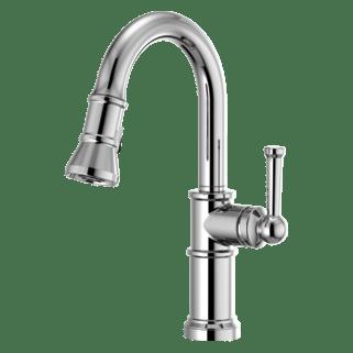 brizo kitchen faucet cabinets ri faucets artesso pull down prep 63925lf pc