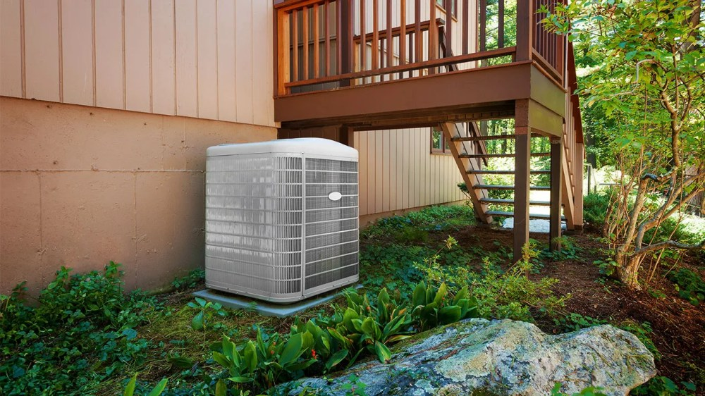 medium resolution of central air conditioning unit outside of a house