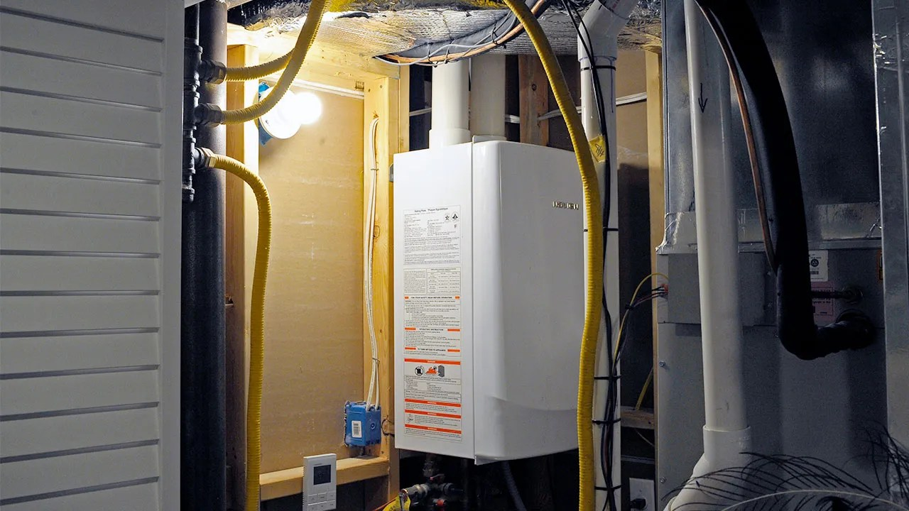 hight resolution of garage with tankless hot water heater