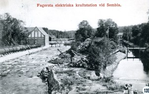 Kraftverk 1, 2 och 3 i Semla, foto ca 1915
