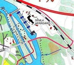 Semla herrgårds placering på kartan
