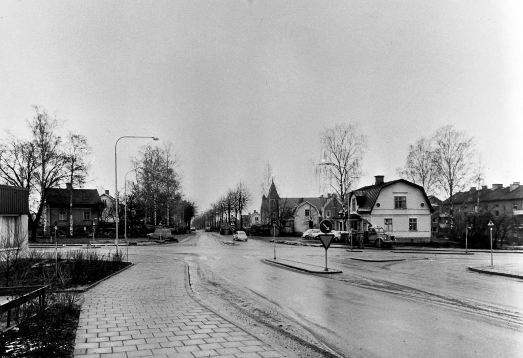 Byxkröken mot Dalavägen söderut, slutet på 60-talet