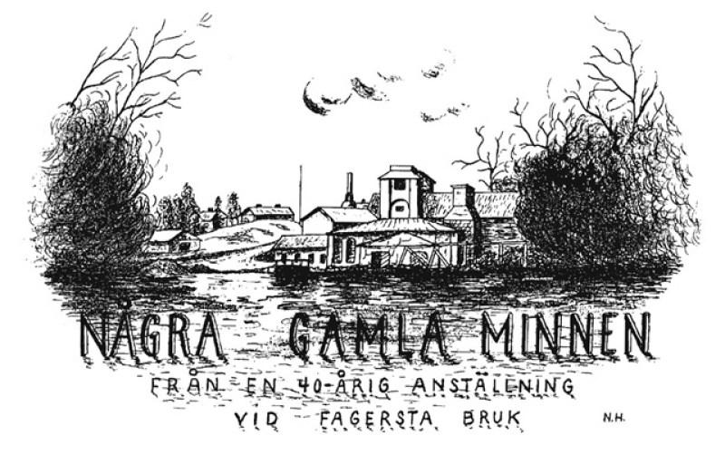 1, Teckning av Västanfors hytta
