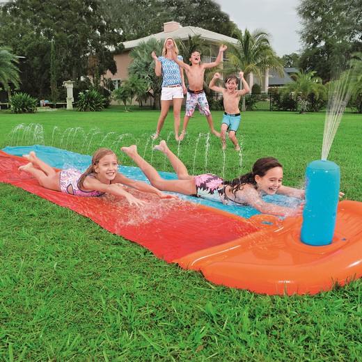tapis de glisse gonflable bestway h2o go dragstrip double 549 cm