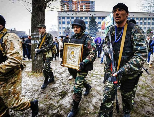 Donbas vojska sa ikonom Bogorodice