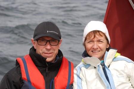 Glada seglare Christel & Johan
