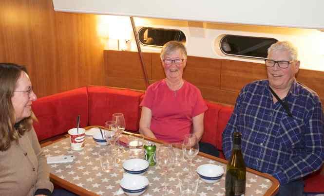 Middag ombord med Siv och Nils-Erik