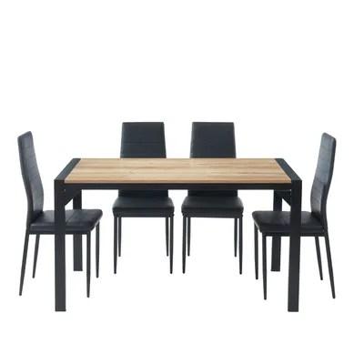 ensemble table et chaises table avec