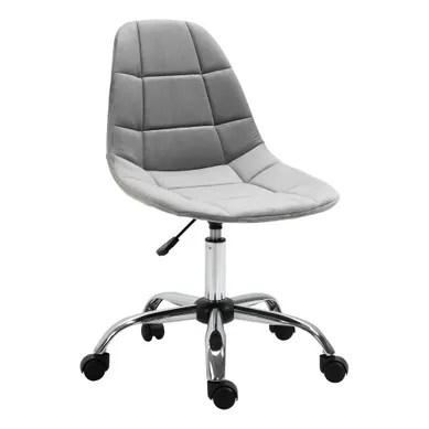 chaise et fauteuil de bureau gris pas