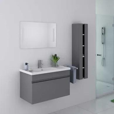 meuble de salle de bain gris