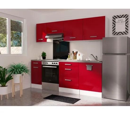 haut 60 cm 1 porte elibox 243402 rouge brillant