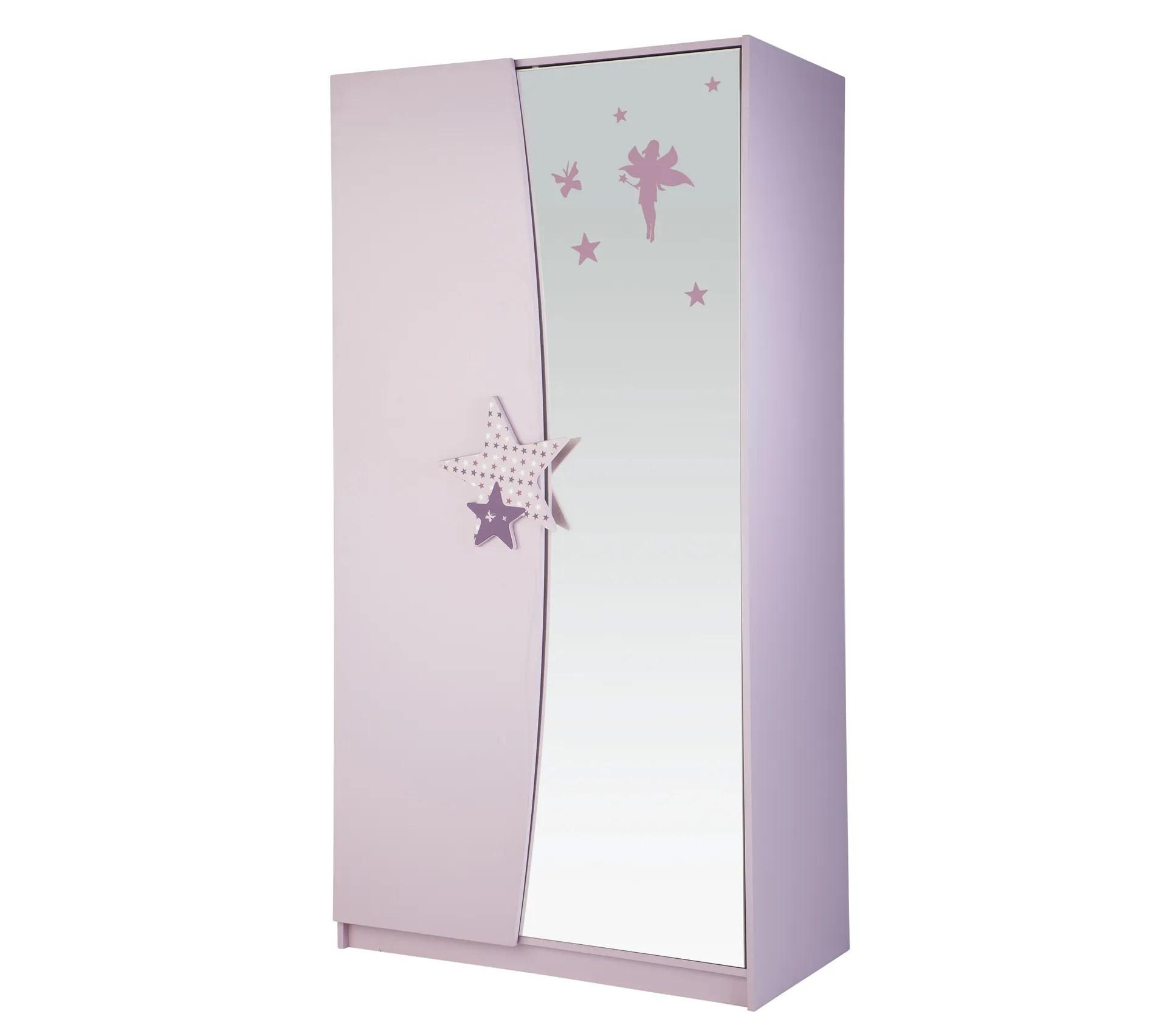 armoire 2 portes fee lilas 299406